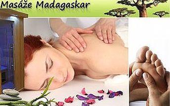 130min. WELLNESS - INFRAsauna + reflexní masáž chodidel + madagaskarská MASÁŽ zad, šíje, hlavy i obličeje