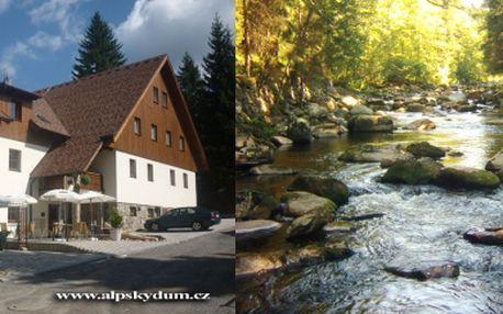 Cenová bomba!!! 3-denní pobyt pro 2 osoby se snídaní v penzionu Alpský Dům! Krásné jarní dny či babí léto s hezkým počasím přímo láká prožít příjemnou dovolenou v srdci Šumavy, navštívit ledovcová jezera i Bavorsko.