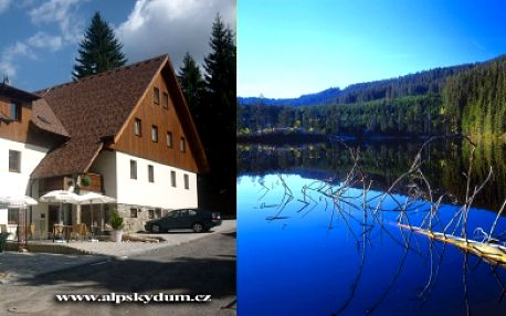 Cenová bomba!!! 6-ti denní pobyt pro 2 osoby se snídaní v penzionuAlpský Dům! Krásné jarní dny či babí léto s hezkým počasím přímo láká prožít příjemnou dovolenou v srdci Šumavy, navštívit ledovcová jezera i Bavorsko.