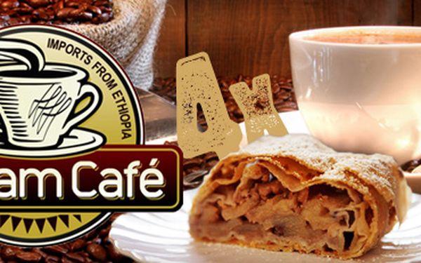 KÁVOVÉ HODY se slevou 50%!! 4x káva dle Vašeho výběru, 4x štrúdl a 1x balení špičkové fairtrade kávy za 193 Kč!! Sami si vyberte značku kávy i způsob přípravy, nebo si nechte poradit od zkušených baristů!!