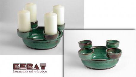 Keramický svícen pro každou příležitost jen za 50% ceny. Vytvořte si i Vy příjemnou velikonoční atmosféru i ve Vašem domově.