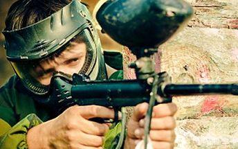 PAINTBALL včetně výzbroje a 100 kuliček Vybijte energii a užijte si paintball v military nebo barrel aréně. Hřiště v lese nebo na travnatém povrchu s množstvím překážek a barelů. V ceně výzbroj a munice - 100 kuliček.