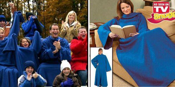 Vysoce praktická elegantní a hřejivá deku s rukávy z TV Shopu. Ideální pro zimní pochmurné večery, s touto dekou budete v teplíčku od hlavy až k patě!