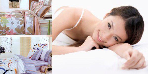 Dopřejte si nové ložní povlečení a oživte svou ložnici barvami. Sedmi dílná sada bavlněného povlečení jen za 299 Kč.
