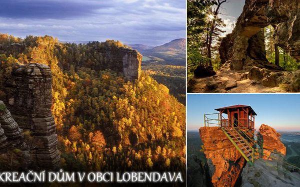 3 dny až pro 10 osob v krásném rekreačním domku Lobendava v nejsevernější části České republiky za 3 600 Kč. komfort pro vás a vaše přátele nebo rodinu a nádherná příroda kolem!