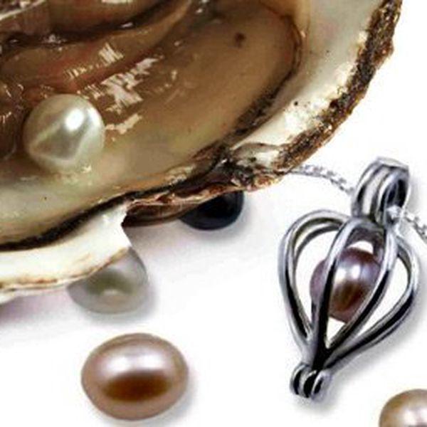 Perla přání s náhrdelníkem – perla o dvou karátech a velikosti 0,5–0,8 cm. Balení obsahuje ústřici s perlou, nožík a náhrdelník. Poštovné v ceně