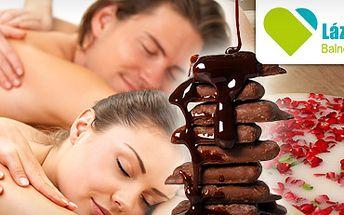 Jarní společná růžová koupel pro partnery s čokoládovým zábalem a masáží za 1549 kč!! 90 min. Relaxu v privátním wellness a navíc kvalitní sekt jako bonus, nyní se slevou 48%!!