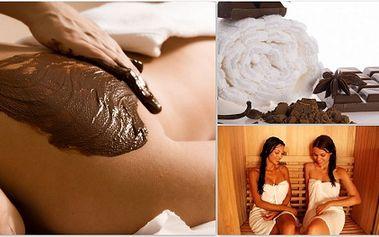 Luxusní ČOKOLÁDOVÁ terapie 90 minut PRO DVĚ OSOBY za 999 Kč! Balíček obsahuje infrasaunu, celotělový čokoládový zábal a čokoládovou masáž!