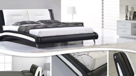 Luxusní MANŽELSKÁ POSTEL Lucciano s čalouněním a roštem Luxusní a detailně propracovaná manželská postel vyrobená z masivního dřeva s roštem a čalouněním z umělé kůže. V nabídce více rozměrů. Kvalitní spánek a design v jednom.