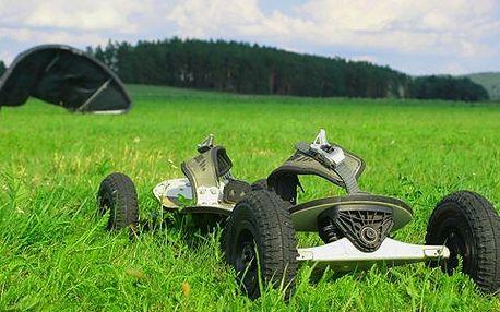 120 minut landkitingu! Uhánějte krajinou na drakem taženým skateboardu a užijte si adrenalin!