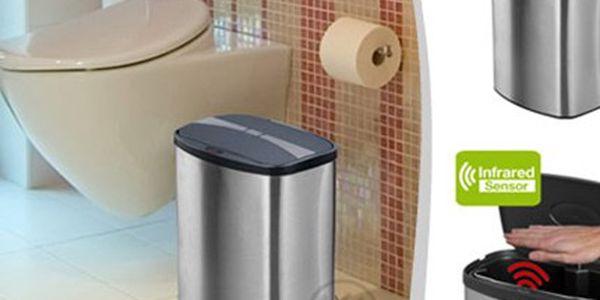BEZDOTYKOVÝ odpadkový KOŠ Helpmation MINI 8 litrů Odpadkový koš o objemu 8 litrů s infračerveným senzorem pro hygieničtější domácnost, nádoba se sama tiše otevře i zavře. Koš vyroben z matné nerez oceli.