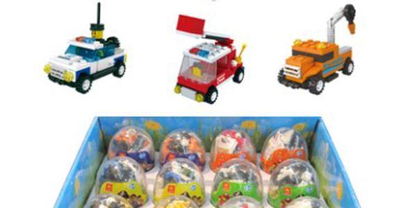 Tři velikonoční vajíčka se stavebnicí malých dopravních prostředků jen za 149 Kč