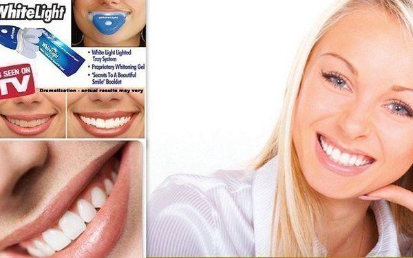 Oslňte bělostným úsměvem za pár korun s revolučním výrobkem White Light. V pohodlí Vašeho domova a již žádné návštěvy lékařů na bělení zubů!