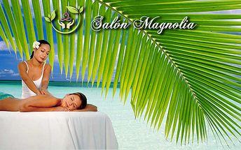 90 minutová havajská masáž Lomi-Lomi - milující ruce! Luxusní prostředí salonu Magnolia, který najdete ve 4* Hotelu Donatello na Praze 2!