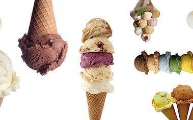 3 kopečky zmrzliny na Václavském náměstí - výběr ze 30 druhů pravých italských kopečků!
