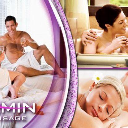 Partnerská relaxace s nádechem romantiky a mnoha lahodnými i odpočinkovými bonusy. Čeká Vás 20 min společné sprchy, welcome drink, 60 min olejové masáže, 20 minutový ovocný raut, 40 minutový čajový rituál, 30 min masáž nohou pro muže, 30 min masáž šíje pro ženu a sladké potěšení na závěr!