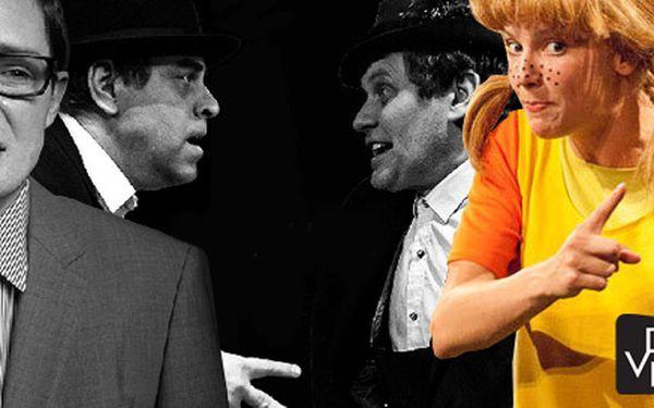 Vstupenky na představení Divadla v Dlouhé! Oblíbené divadlo, čtyři hry a Miroslav Táborský, čerstvá držitelka Thálie Helena Dvořáková i další skvělí herci.