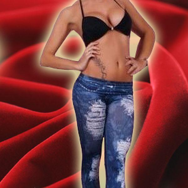 Sexy legíny s motivem jeans Ketty Ladie´s a sexy korzet Chilirose černo – červený! Luxusní erotické prádlo učiní každou ženu svůdnou a sexy!