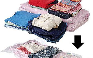 5 MAXI vakuových pytlů (100x70 cm) na uskladnění oblečení i dek. Šetří místo doma, na chatě a chrání před roztoči