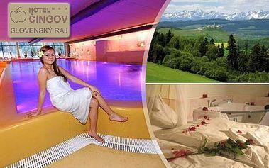 Jarný 3-dňový pobyt pre 2 osoby v hoteli ČINGOV*** v Slovenskom raji, v cene raňajky a voľný vstup do atraktívneho WELLNESS + bazéna s 31° vodou! Vychutnajte si prebúdzajúcu sa prírodu a vysnívaný relax pri krásach národného parku za POLOVIČNÚ CENU!