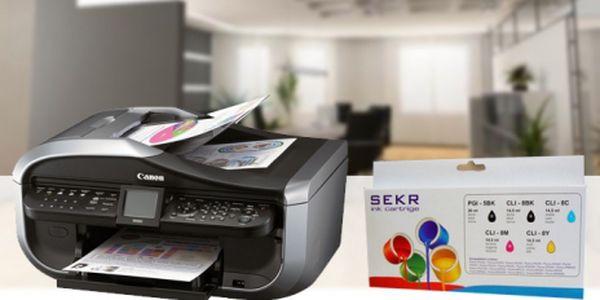 Sada 5ti ks ALTERNATIVNÍCH NÁPLNÍ PGI520BK/CLI521BK, C, M, Y pro tiskárny CANON PIXMA jen za 229 Kč! Tiskněte se slevou 73% a ulehčete Vaší peněžence!