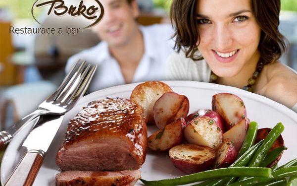 2 porce kachních prsou na grilu a pečených brambor ve slupce s rozmarýnem pro dvě osoby za 189 Kč! Rozpoutejte bouři nevšedních chutí v restauraci Brko s 50-ti% slevou!