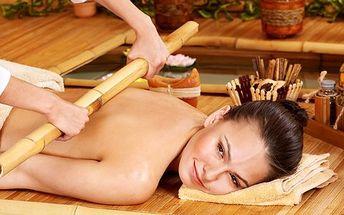 Hit sezóny – celotělová bambusová masáž! Nechte se hodinu hýčkat a rozmazlovat, blahodárné účinky této kúry vás zbaví stresu a zkrášlí vás!