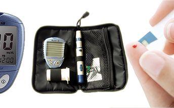 Glukometr GlucoLab s 25 testovacími proužky! Jednoduché a pohodlné měření glukózy pro diabetiky přístrojem v elegantním pouzdru!