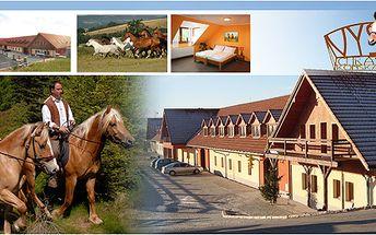 Romantika v prostředí koňské farmy na 3 dny a 2 noci se slevou 40%