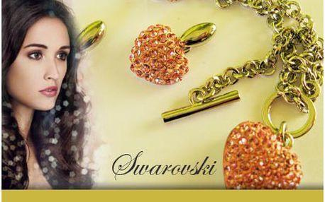 Luxusní náhrdelník a náušnice Swarovski Elements. Srdeční záležitost!