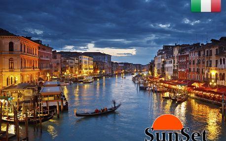 4-dňový výlet do slnečných BENÁTOK len za 299 €! V cene letenka z BA, ubytovanie v 3* hoteli Venezia a kompletná prehliadka historického centra a ostrovov so sprievodcom! Krásny výlet vo dvojici od SunSet Team! Odlety aj počas letnej sezóny!