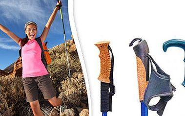 TREKKINGOVÉ HOLE + obal 3-sekční trekkingové hole jsou vyrobeny z kvalitního materiálu, obsahují systém tlumení s blokací, ergonomickou rukojeť a náhradní koncovky. Vybírejte ze 3 variant, obal jako dárek.