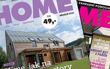 Roční předplatné časopisu HOME + 2x publikace Vše o... 11 vydání časopisu HOME + 2 publikace Vše o Stavbě energeticky úsporného domu a Vše o Výstavbě a rekonstrukci svépomocí. Jako dárek skleněné pilníky.