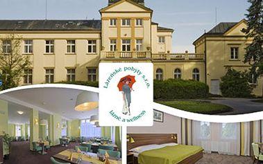 4 dny v Hotelu Zámeček**** v Lázních Poděbrady Ubytování s polopenzí pro 1 osobu, 6 lázeňských procedur, poukázka do lázeňské kavárny a rozkvetlé Poděbrady.