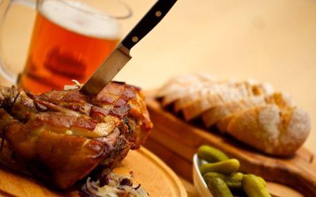 Za pouhých 129 Kč si přijďte pochutnat na tradičním MARINOVANÉM PEČENÉM KOLENI s hořčicí, čerstvým křenem a chlebem! Můžete vzít i kamaráda. Stačí koupit voucher za pouhých 26 Kč! Vše získáte v restauraci Kaňka a to s 50% SLEVOU!