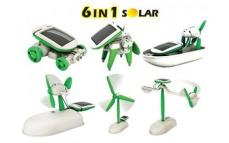 Fantastických 129 Kč za solární stavebnici robota SolarKit 6v1. Geniální hračka, spojující zábavu a vzdělaní, je vyhledávána malými i velkými konstruktéry. Demonstruje princip solární energie. Stavebnice Vás jen tak neomrzí, protože složený model může být znovu a znovu přetvářen do jiného. Sleva 68 %!