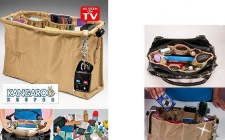 Praktický organizér KANGAROO KEEPER do kabelky za pouhých 139,- Kč!!! Ušetří Vám spoustu času a také zajistí perfektní přehled nad Vašimi věcmi v kabelce!
