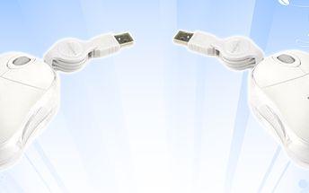 Optická USB myš Spirit od DICOTY dokonale spojuje funkčnost a design. Má jedinečnou vlastnost - tato myš září 7 měnícími se barvami!
