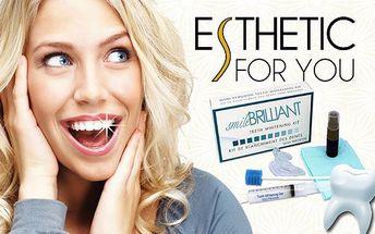 Efektivní bělení zubů pomocí revoluční metody SmileBrilliant rozzáří Váš úsměv. Neinvazivní metoda (ošetření bělící tužkou) bez dlouhotrvající citlivosti zubů trvá jen 20 až 30 minut a výsledek je patrný IHNED! Se zářivým úsměvem budete vypadat reprezentativně, zdravě a krásně.