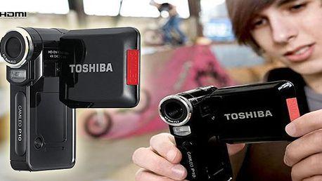 Kamera Toshiba Camileo P10! FULL-HD kamkordér se stylovým designem, to je CAMILEO P10 s intuitivním uživatelským rozhraním pro zachycení vašich příběhů v rozlišení FULL-HD 1080p!