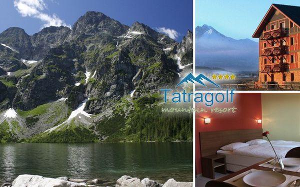 Luxusní 3denní balíček až pro 3 osoby přímo pod Vysokými Tatrami ve 4* Tatra Golf Resort za 1 550 Kč! Nádherné prostředí beroucí dech, panenská příroda, slevy na Skipasy za fantastickou cenu.