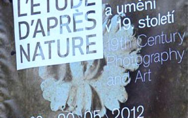 """HISTORIE FOTOGRAFIE. Vstupenka na výstavu v Moravské galerii v Brně """"L'étude d'après nature – fotografie a umění v 19. století"""", ZA POLOVINU."""