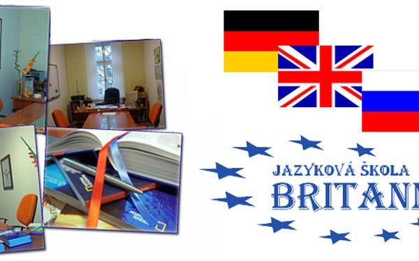 3 měsíční vysoce efektivní kurzy angličtiny, němčiny, ruštiny nebo francouštiny se slevou až 40 % v jazykové škole Britannika v centru Prahy!
