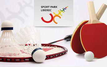 12 vstupová permanentka na badminton, ricochet nebo stolní tenis pro vaši radost z pohybu a hry za pouhých 690 Kč díky HyperSlevě 62 %