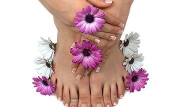 Nové gelové nehty na rukách i na nohách včetně francie, olivové nebo medové masky a možnosti zdobení.