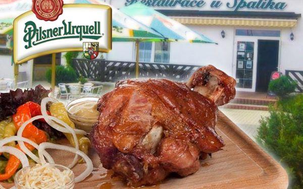 Pouze 89 Kč za pořádnou 1 kg porci vepřového kolena s chlebem křenem, beraními rohy a hořčicí v útulné restauraci U Špalíka nedaleko Plzně s 55% slevou.
