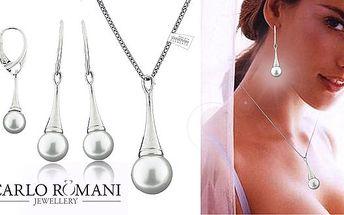 BRNO - 690 Kč za stříbrnou perlovou soupravu Swarovski. Součástí je stříbrný řetízek, luxusní sametová krabička a certifikát.