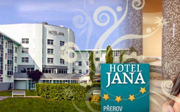 WELLNESS HOTEL V PŘEROVĚ s 67% slevou!! Jen 3 098 Kč za 2 noci pro 2 osoby ve 4hvězdičkovém Hotelu Jana, polopenzi a neomezené wellness, bowling a billiard!! Ušetřete s námi 6 228 Kč!! Zvýhodněný pobyt je možné čerpat až do 20.12.2012!!