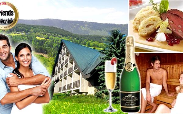 3 dny pro 2 osoby v Hotelu Friends s polopenzí, saunou, sektem v krásné části Krkonoš za 1 395 Kč. Při koupi 2 voucherů, 5. noc zdarma! Super dovolená nejen pro ty, kteří mají rádi stejnojmenný klub!