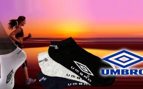Značkové kotníkové ponožky se slevou 60%! Pořiďte si 3 páry pánských ponožek UMBRO za skvělých 79 Kč! Dostupné ve velikostech 36-42 a 40-46.